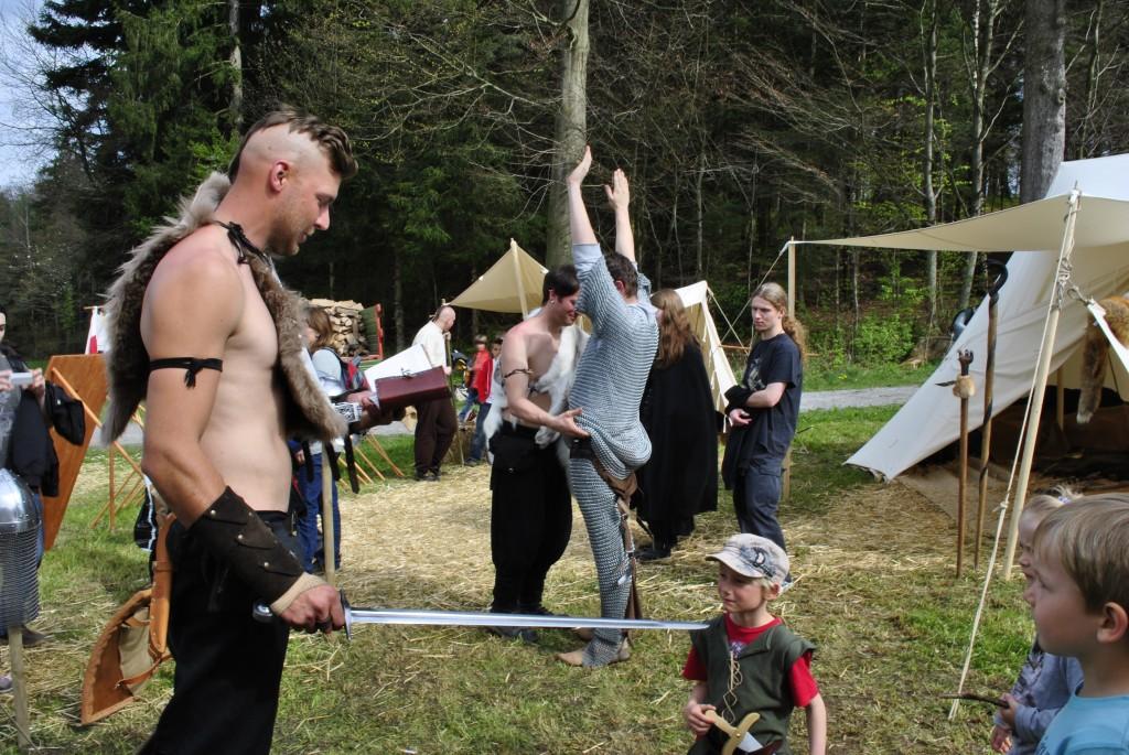 Vorbereitungen zum Ritterschlag
